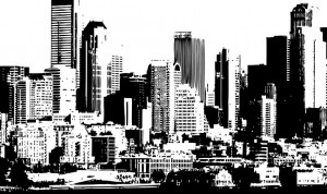 Black and White cityscape-min